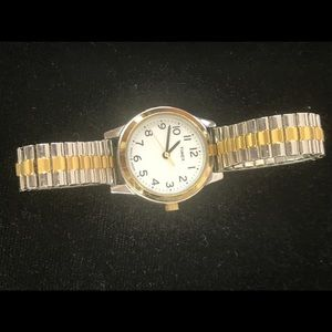 Timex Jewelry - Timex Watch Ladies Gold-Silver with expansion band